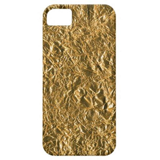 Golden Aluminium Background iPhone 5 Covers