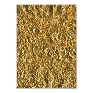 """Golden Aluminium Background 5"""" X 7"""" Invitation Card"""