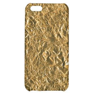 Golden Aluminium Background iPhone 5C Cases