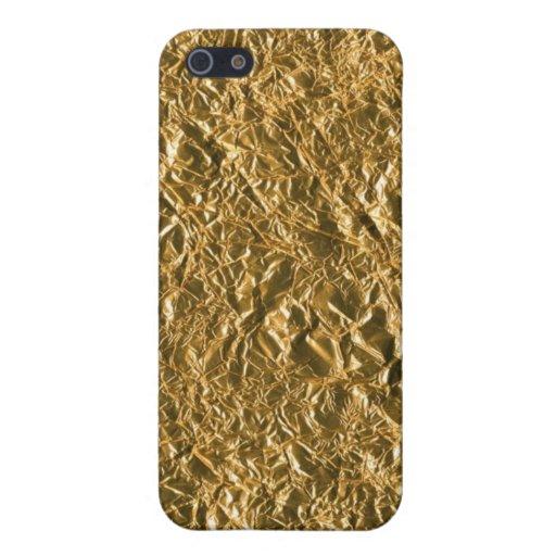 Golden Aluminium Background iPhone 5 Cover