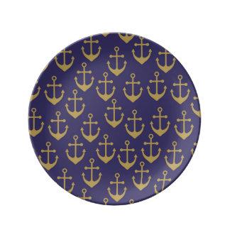 golden anchor porcelain  plate