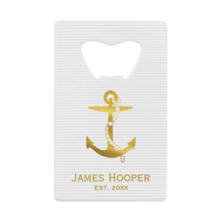 Golden Anchor with Rope | Nautical Gifts