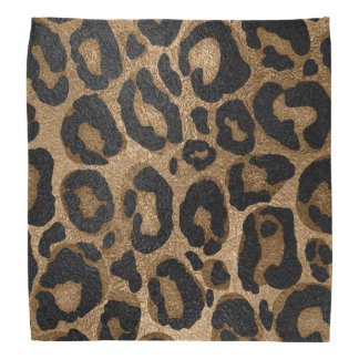 Golden and Black glitter  Leopard/ Jaguar print Bandana