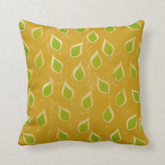 Golden and Green Leaves Cushion