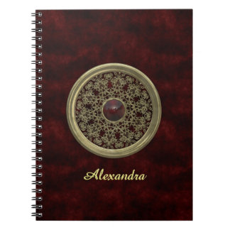 Golden and Red Ornament Notebook