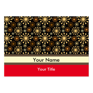 Golden and Silver Snowflakes Pattern Pack Of Chubby Business Cards
