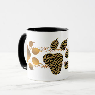 Golden and Striped Tiger Paws Mug