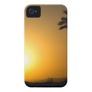 Golden Andalusian sunset with silhouette palm tree iPhone 4 Case