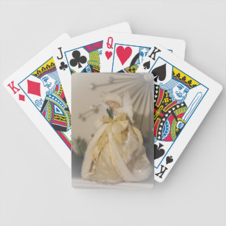 Golden Angel With Outstretched Wings Bicycle Playing Cards