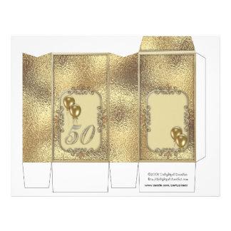 Golden Anniversary 50th Pinch Box Party Favors 21.5 Cm X 28 Cm Flyer