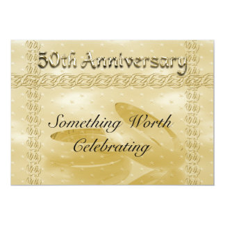 Golden Anniversary Bands Of Love Set Card