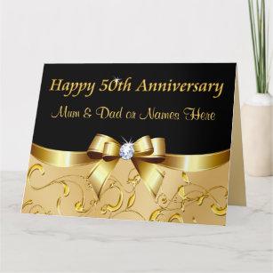 Parents 50th Anniversary Cards Zazzle Com Au