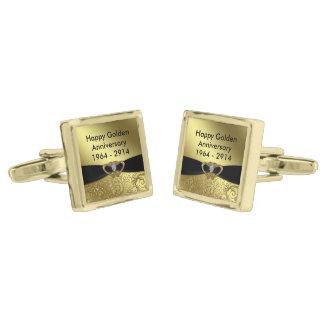 Golden Anniversary Cufflinks Gold Finish Cufflinks