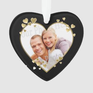 Golden Anniversary Heart Photo Ornament