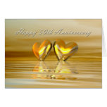Golden Anniversary Hearts Greeting Cards