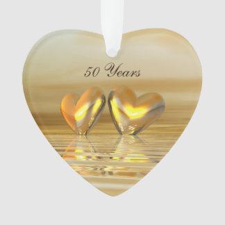 Golden Anniversary Hearts Ornament