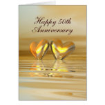 Golden Anniversary Hearts (Tall) Card