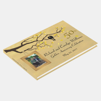 Golden Anniversary Love Birds Guest Book