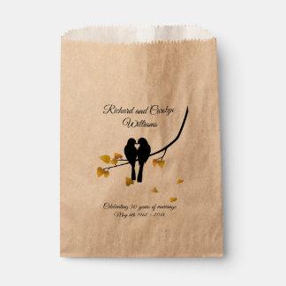 Golden Anniversary Lovebirds Favour Bag