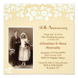 golden anniversary photo invitation