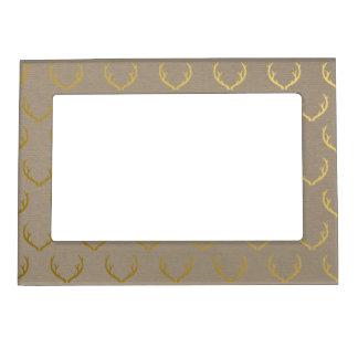 Golden Antler Pattern Magnetic Picture Frame