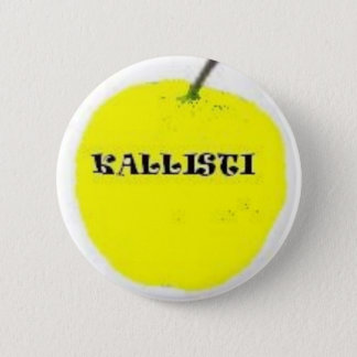 Golden apple 6 cm round badge
