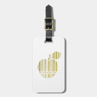 Golden Apple Luggage Tag
