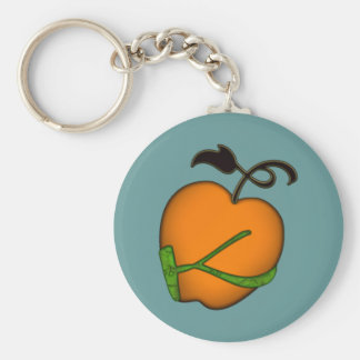 Golden Apple of Eris Basic Round Button Key Ring