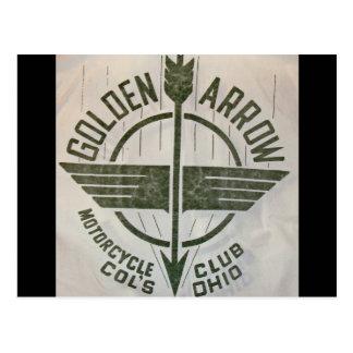 Golden Arrow Motorcycle Club Logo Postcard