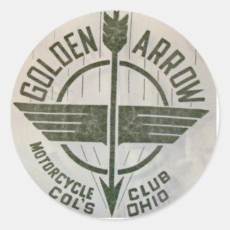 Golden Arrow Motorcycle Club Logo Stickers