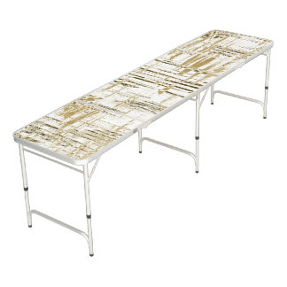 Golden Art Deco Beer Pong Table