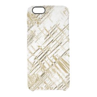 Golden Art Deco Clear iPhone 6/6S Case