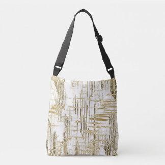 Golden Art Deco Crossbody Bag