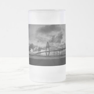 Golden Arthur Ravenel Pano Grayscale Frosted Glass Beer Mug