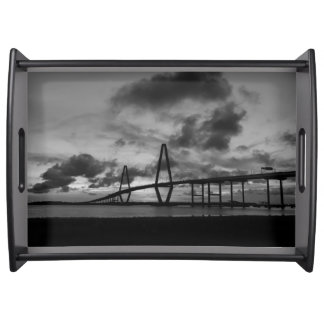 Golden Arthur Ravenel Pano Grayscale Serving Tray