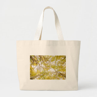 Golden Aspen Forest Canopy Large Tote Bag