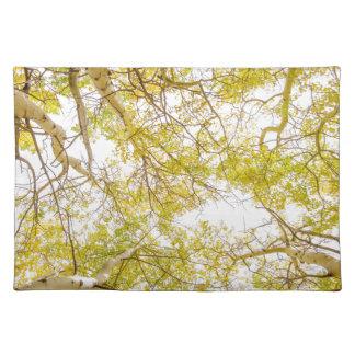 Golden Aspen Forest Canopy Placemat