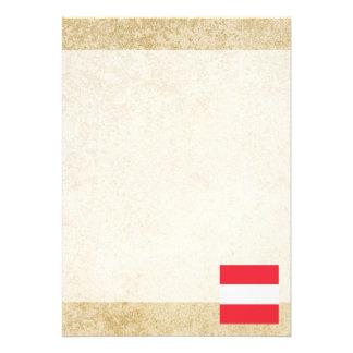 Golden Austria Flag 13 Cm X 18 Cm Invitation Card
