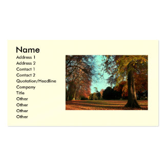 Golden Autumn Business/Profile Cards Business Card