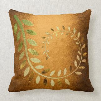 Golden Autumn Fall Felice Leave Throw Pillow