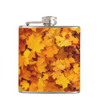 Golden Autumn Leaf Flask