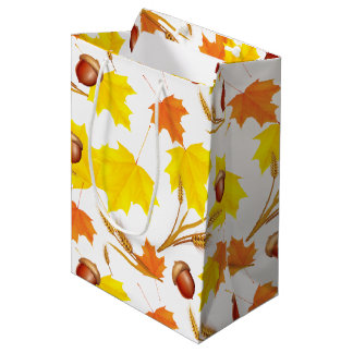 Golden Autumn Medium Gift Bag