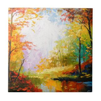 Golden autumn tile