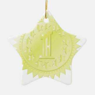 golden award ceramic ornament