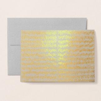 Golden Bach Chaconne Music Manuscript Foil Card
