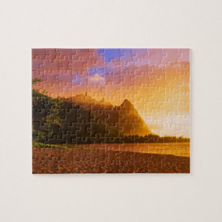 Golden beach sunset, Hawaii Jigsaw Puzzle