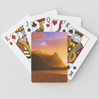 Golden beach sunset, Hawaii Playing Cards
