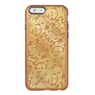 Golden beautiful baroque stylish elegant pattern incipio feather® shine iPhone 6 case