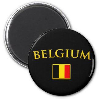 Golden Belgium Magnet