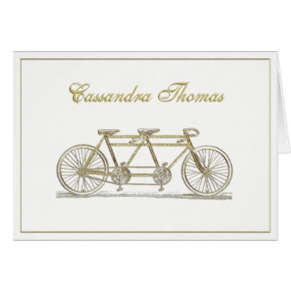 Golden Bicycle Built For Two Frame H Card